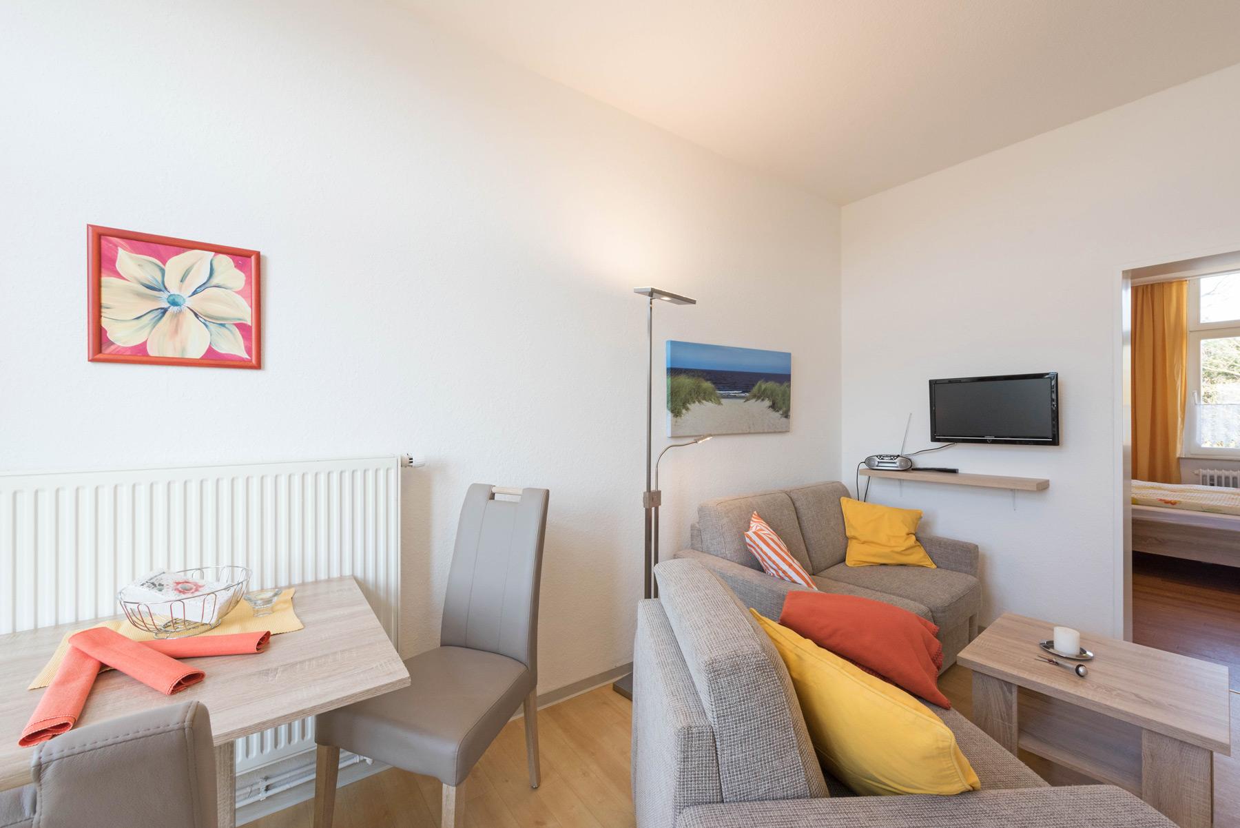 Entspanntes und dennoch zentrales wohnen mit balkon auf for Zimmer auf norderney